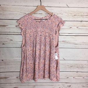 NWT Adorable Pink Babydoll Boho Plus Size  Tunic